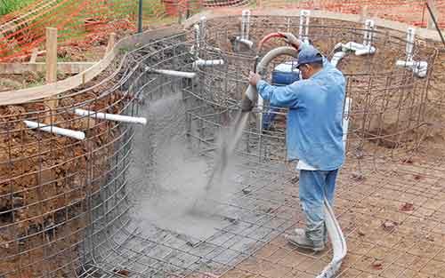 Piscinas de obra con hormigón